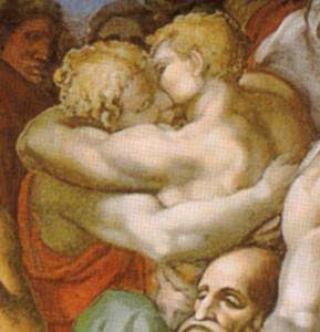 michelangelo_giudizio_universale_dettagli_06_abbraccio