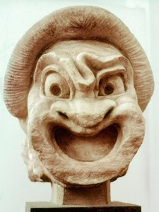 ancient-theatre-mask-first-slave-of-comedy-bob-phillips