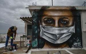 GREECE-HEALTH-VIRUS-ART