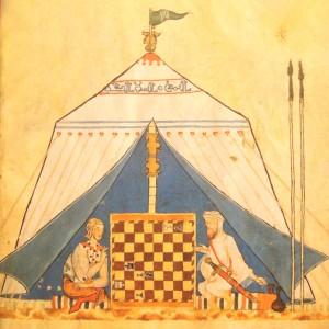 un-cristiano-e-un-moro-giocano-a-scacchi-dal-libro-di-giochi-dadi-e-tavole-di-alfonso-x-il-saggio saggio