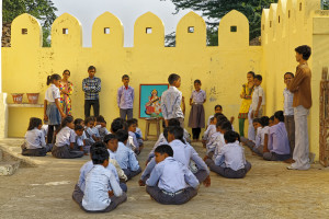Adarsh Vidya Mandir school, Village of Khilchipur, Rajasthan, India.