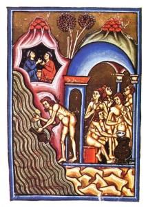 5pietro-da-eboli-il-balneum-sudatorium-cioe-le-stufe-di-agnano-xiii-secolo-roma-biblioteca-angelica-codice-angelico-ms-1474-in-aa-vv-le-terme-puteolane-e-salerno-nei-codici-miniati-di-piet