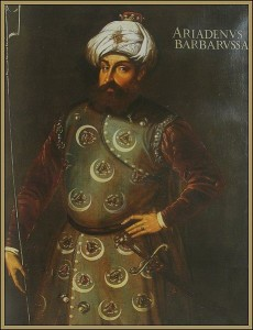Barbarossa Hayreddin Pasha, XVII secolo, dipinto anonimo, Paris, Mousée du Louvre