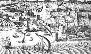 Napoli, arsenale e molo grande, J. Van de Velde, 1618 circa (pessolano, 1993, fig.9).