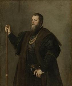 Don Pedro Álvarez de Toledo, Tiziano, 1542, Alte Pinakothek, Monaco di Baviera.