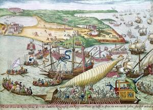 L'assedio di Tunisi a La Goulette, 1535 Franz Hogenberg, Biblioteque Nationale, Paris