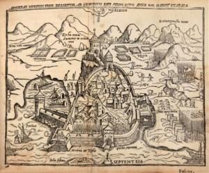 Fig. 7 Battaglia di Algeri (1541), anonimo, 1555, http://zum.de/whkmla/region/northafrica/xregalgiers.html