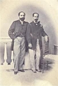 Orazio  (a  dx) e Corrado Fatta Rampolla