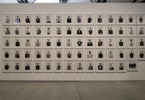 Richard Avedon. Una parete della mostra : Masculinities : Liberation through Photography, Exposition organisée par le Barbican Centre, Londres. presso Mècanique Génerale (ph. Giuseppe Sinatra)