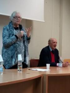Maria I. Macioti con Franco Ferrarotti