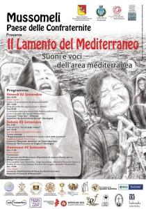 """[Fig. 3. Manifesto de """"Il Lamento del Mediterraneo"""" (Mussomeli - settembre 2016)]"""