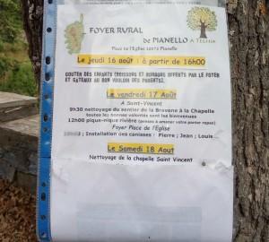 Pianellu. Alcune attività del Foyer Rural di Pianellu (agosto 2018 Ph. Broccolini)]