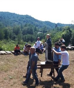 La processione della statua di S. Vincente (ph. F. R. Uccella)