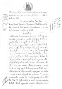 Atto del 14 febbraio 1899