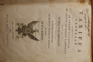 Archivio di Stato di Palermo, fondo della Secrezia, busta n. 2012, frontespizio. Su concessione del Ministero della cultura.