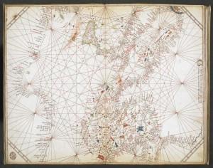 Portolano del Mediterraneo centrale, redatto da Grazioso Benincasa, XVI secolo