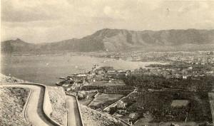 Palermo Nuovo stradale sul Monte Pellegrino e veduta della Città - 1925