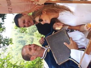 Painello, Jean-Charles Adami con la figlia e il genero durante la festa di San Vicente, agosto 2018  (ph. Francesca Uccella).