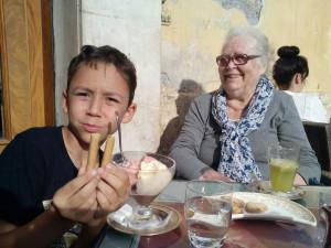 Minette e il nipote Sami