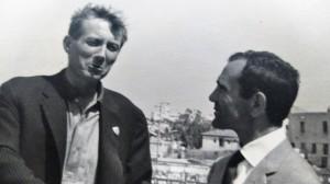 Ludovico Corrao con il poeta russo Evtushenko