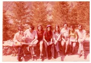 Heildeberg, 1969, Cosatnza con gli studenti sul Philosophenweg