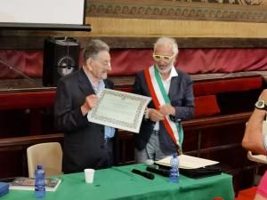 Salvatore Costanza riceve la cittadinanza onoraria a Castelvetrano, luglio 2020