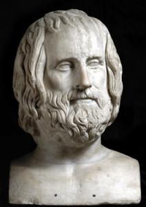 Erma di Euripide, IV sec. a. C.
